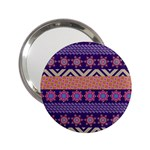 Colorful Winter Pattern 2.25  Handbag Mirrors Front