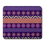 Colorful Winter Pattern Large Mousepads Front