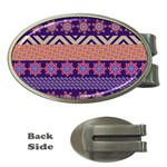 Colorful Winter Pattern Money Clips (Oval)  Front