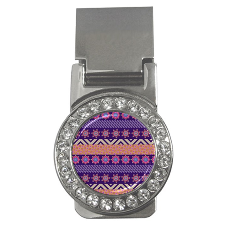 Colorful Winter Pattern Money Clips (CZ)