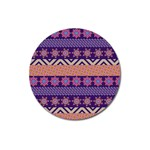 Colorful Winter Pattern Magnet 3  (Round) Front