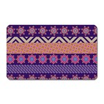 Colorful Winter Pattern Magnet (Rectangular) Front