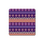 Colorful Winter Pattern Square Magnet Front