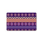 Colorful Winter Pattern Magnet (Name Card) Front