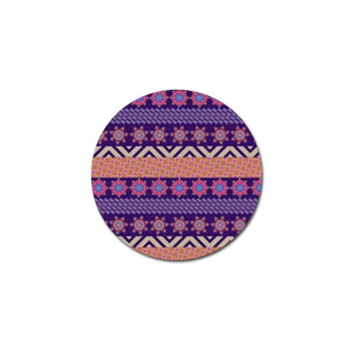 Colorful Winter Pattern Golf Ball Marker