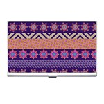 Colorful Winter Pattern Business Card Holders Front