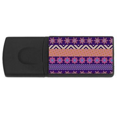 Colorful Winter Pattern USB Flash Drive Rectangular (2 GB)