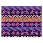 Colorful Winter Pattern Rectangular Jigsaw Puzzl Front