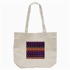 Colorful Winter Pattern Tote Bag (Cream)