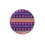 Colorful Winter Pattern Hat Clip Ball Marker Front