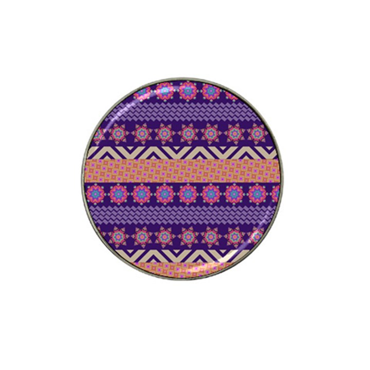 Colorful Winter Pattern Hat Clip Ball Marker