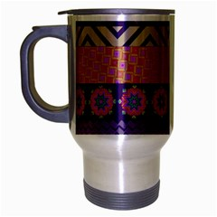 Colorful Winter Pattern Travel Mug (Silver Gray)