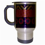 Colorful Winter Pattern Travel Mug (Silver Gray) Left