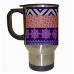 Colorful Winter Pattern Travel Mugs (White) Left