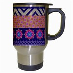Colorful Winter Pattern Travel Mugs (White) Right