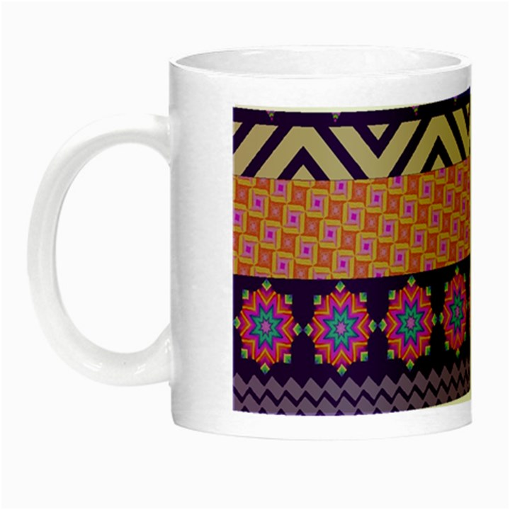 Colorful Winter Pattern Night Luminous Mugs