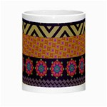 Colorful Winter Pattern Night Luminous Mugs Center