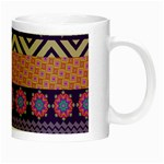 Colorful Winter Pattern Night Luminous Mugs Right
