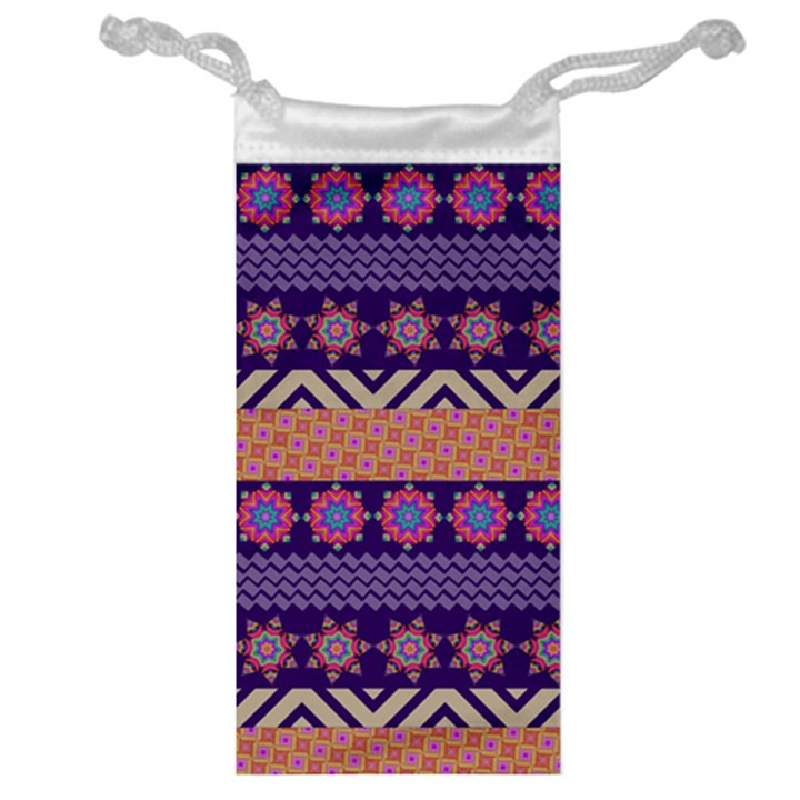 Colorful Winter Pattern Jewelry Bags