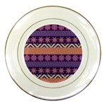 Colorful Winter Pattern Porcelain Plates Front