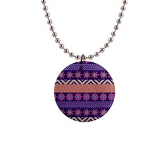 Colorful Winter Pattern Button Necklaces