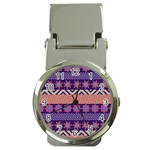 Colorful Winter Pattern Money Clip Watches Front