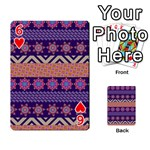 Colorful Winter Pattern Playing Cards 54 Designs  Front - Heart6