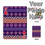 Colorful Winter Pattern Playing Cards 54 Designs  Front - Heart9