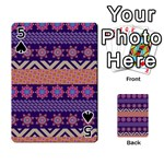 Colorful Winter Pattern Playing Cards 54 Designs  Front - Spade5