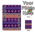Colorful Winter Pattern Playing Cards 54 Designs  Front - Joker1