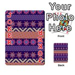 Colorful Winter Pattern Playing Cards 54 Designs  Front - Joker2