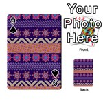 Colorful Winter Pattern Playing Cards 54 Designs  Front - Spade9