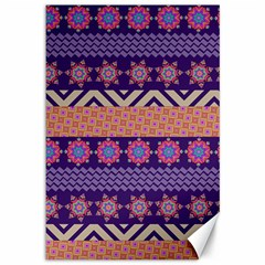 Colorful Winter Pattern Canvas 12  X 18
