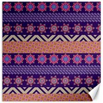 Colorful Winter Pattern Canvas 16  x 16   16 x16 Canvas - 1