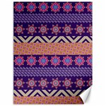 Colorful Winter Pattern Canvas 18  x 24   24 x18 Canvas - 1