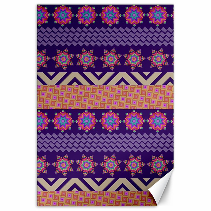 Colorful Winter Pattern Canvas 20  x 30
