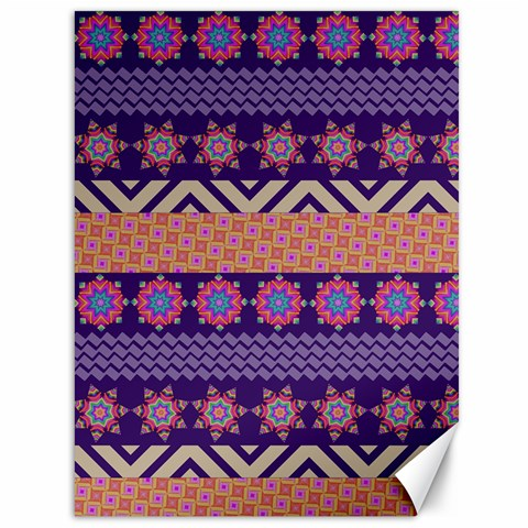 Colorful Winter Pattern Canvas 36  x 48