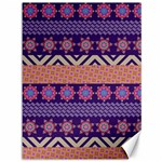 Colorful Winter Pattern Canvas 36  x 48   48 x36 Canvas - 1