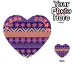 Colorful Winter Pattern Playing Cards 54 (Heart)  Front - Joker2