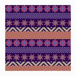 Colorful Winter Pattern Medium Glasses Cloth (2-Side) Back