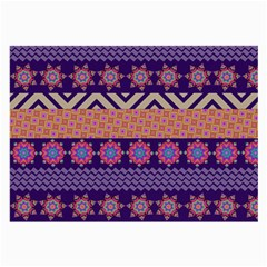 Colorful Winter Pattern Large Glasses Cloth