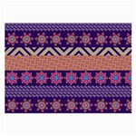 Colorful Winter Pattern Large Glasses Cloth Front