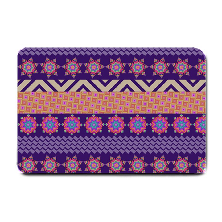 Colorful Winter Pattern Small Doormat