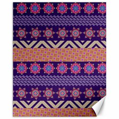 Colorful Winter Pattern Canvas 11  X 14