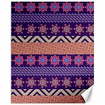Colorful Winter Pattern Canvas 11  x 14   14 x11 Canvas - 1