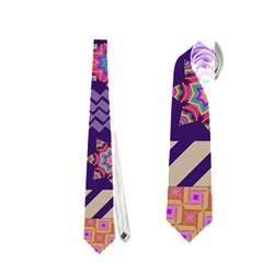 Colorful Winter Pattern Neckties (One Side)