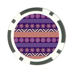 Colorful Winter Pattern Poker Chip Card Guards Back