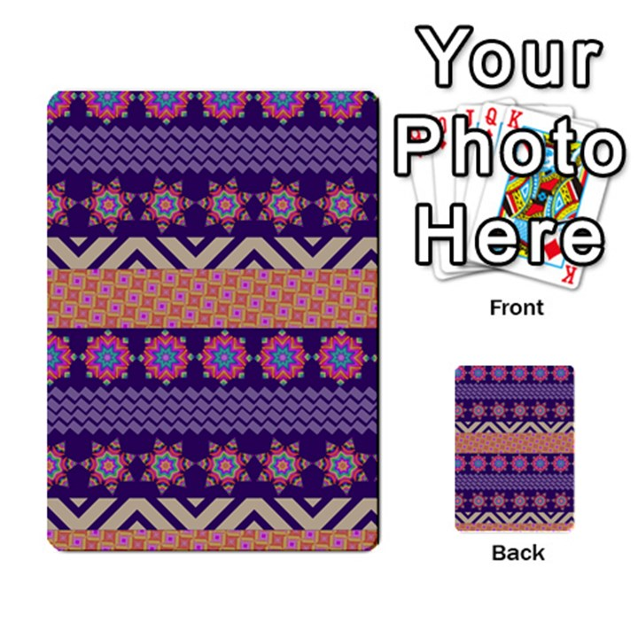 Colorful Winter Pattern Multi-purpose Cards (Rectangle)
