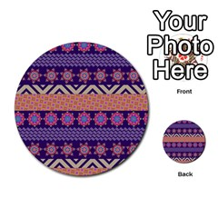 Colorful Winter Pattern Multi-purpose Cards (Round)