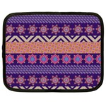Colorful Winter Pattern Netbook Case (Large) Front